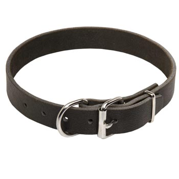 Dog Leather Collar for Dog Training and Walking