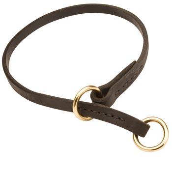 Dog Obedience Training Choke Leather Dog Collar